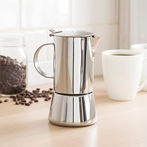 Vev Vigano Sonia Inox 4-cup Coffee Pot by Vev Vigano: Amazon.es: Hogar