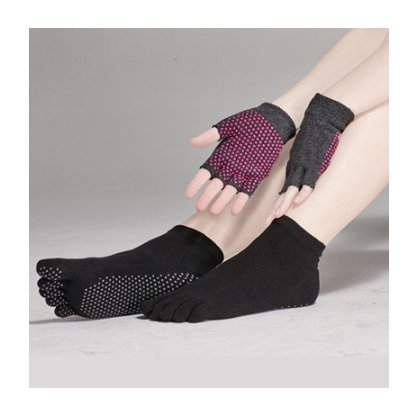 Buy New Akira Cotton Non-slip Socks   Gloves Sport Set Dance Pilates  (Black) Online at Low Prices in India - Amazon.in 2b6c22a049