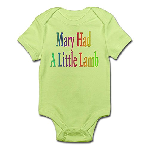 Cafepress   Mary Had A Little Lamb Infant Bodysuit   Cute Infant Bodysuit Baby Romper
