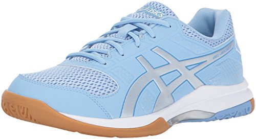 ASICS Womens Gel-Rocket 8 Volleyball Shoe, Airy Blue/Silver/White, 13 Medium US
