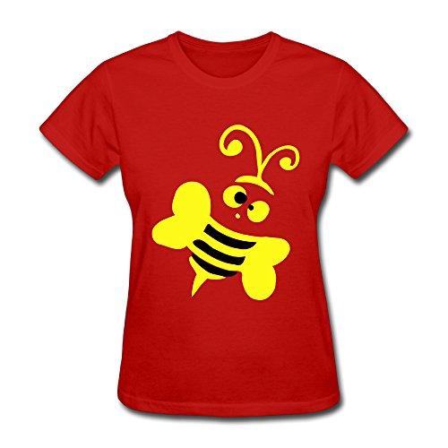 ShuminRZ Honeybee Insect Art -27 Women's Short Sleeve T ShirtSize M Color Red