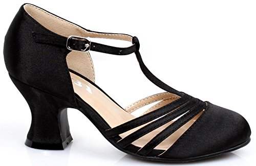 1920 Flapper Shoes (Girl's 1920s Black Flapper Shoes -)