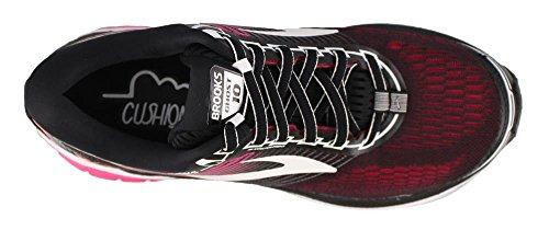 Brooks Womens Ghost 10 Loopschoenen Multi-gekleurd (zwart / Roze Pauw / Levende Koraal)
