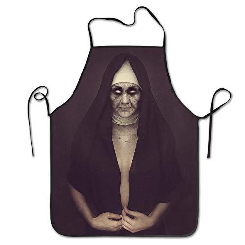 Halloween Zombie Dark Evil Undead Catholic Utility Activity Work Best Prime Supply Customize Smocks Adjustable No-tie Waist Full Cooking Apron for Kids Teacher