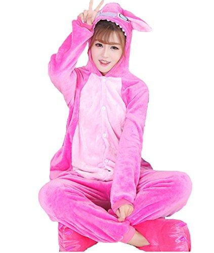 Duraplast Adult Women's Sleepwear Winter Onesies Pajamas Costume Sleep Bag (Fuchsia,M) (Cute Halloween Costumes For Girl Couples)