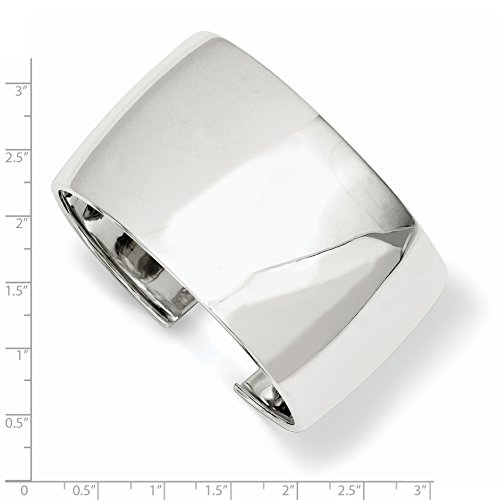 ICE CARATS 925 Sterling Silver 40mm Cuff Bangle Bracelet Expandable Stackable Fine Jewelry Gift Set For Women Heart by ICE CARATS (Image #3)