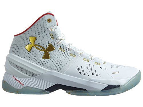 Under Armour Herren Curry 2 Muttertag 1259007-037 Weiß / Rotgold