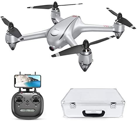 Potensic D80 Drone with Camera for Adults, GPS Drone 2K FHD Camera, Brushless Motor Quadcopter, Auto Return Home, Follow Me, 20Min Flight Time, 25mph High Speed, Includes Aluminum Carrying Case-Sliver