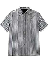 Men's Big & Tall Short Sleeve Striped Shirt