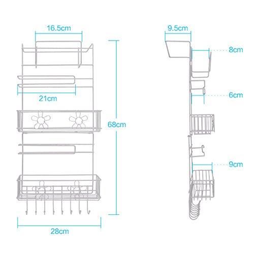 Estante colgante para nevera, almacenamiento lateral, multicapa ...
