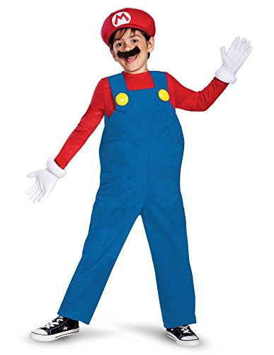 Super Mario Brothers, Deluxe Mario Costume, Small