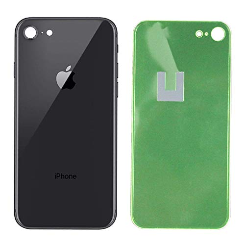(Apple iPhone 8 Replacement Back Glass Cover Back Battery Door w/Pre-Installed Adhesive,Best Version Apple iPhone 8 All Models OEM Replacement (Black))