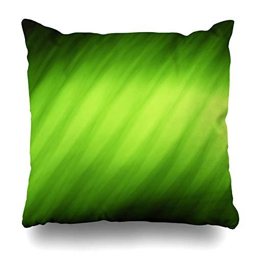 Suesoso Decorative Pillows Case 18 X 18 Inch Bright Light Green Throw Pillowcover Cushion Decorative Home Decor Nice Gift Garden Sofa Bed Car