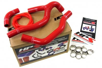 HPS (57-1237-RED) Silicone Radiator Hose Kit for Honda CRF450R
