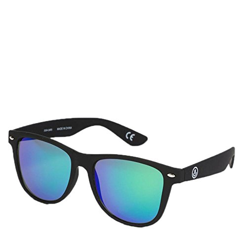 Neff Daily Shades Matte Black with Rainbow Mirrored Lens - Daily Neff Sunglasses