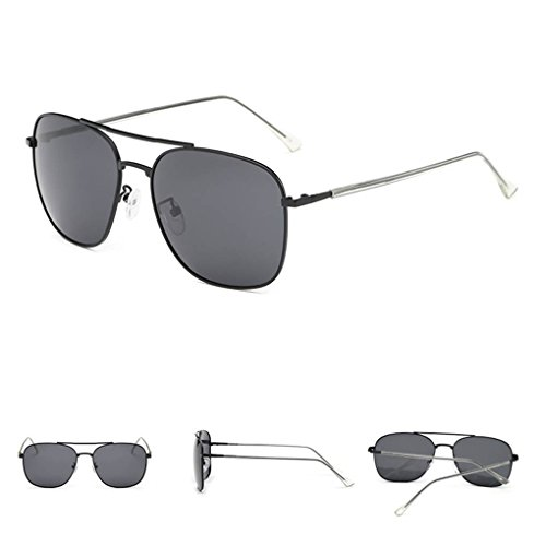 Coolsir Mujeres Moda polarizadas protección Gafas sol de forma de conducción cuadrada UV400 gafas de 1 unisex Gafas Hombres rqwr4