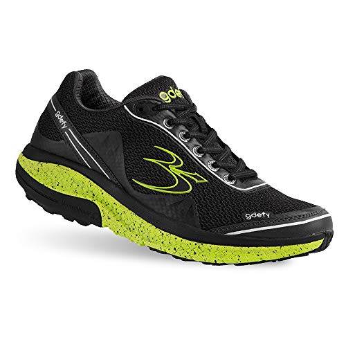 (Gravity Defyer Proven Pain Relief Women's G-Defy Mighty Walk Black Lime Athletic Shoes 8.5 M US - Best Shoes for Heel Pain, Foot Pain and Plantar Fasciitis)