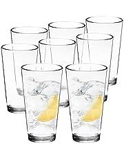 Youngever Bistro Premium Quality Plastic Drinking Tumblers, Plastic Glasses, Reusable Plastic Cups, Unbreakable Glasses, Drinking Glasses (22 Ounce, Set of 6)