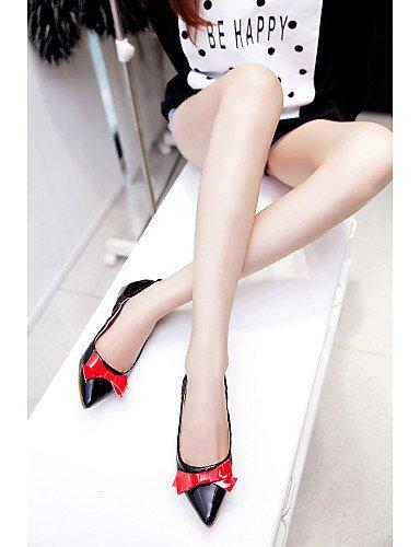 de Carrera Uk4 Zapatos Toe oficina casual Aire Comodidad Y Negro De Libre vestido us6 Piel Talón Pisos Plano Eu36 Pdx Cn36 Mujer Red señaló rojo Al daASwx5dqn