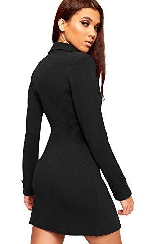 Schwarzes etuikleid mit blazer