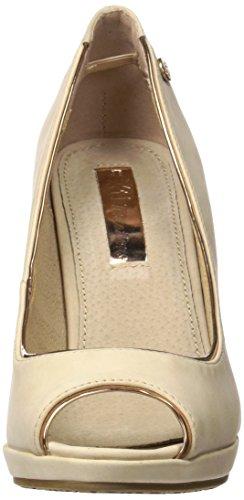 cheaper eddb1 b2c8a XTI 030588, Zapatos de Tacón con Punta Abierta para Mujer Rosa (Nude) ...