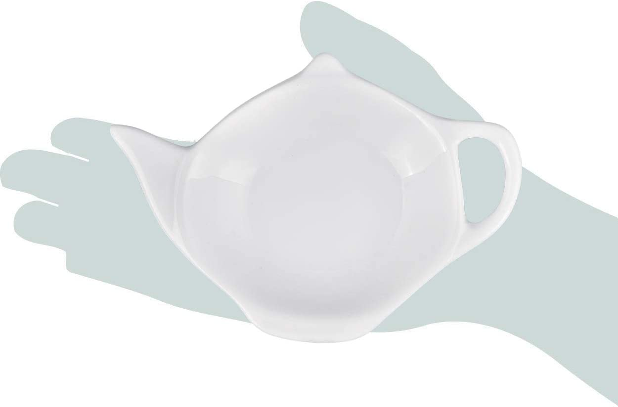Blanco SCSpecial Bolso de t/é en forma de tetera Conjunto de 4 Sazonador de bolsitas de t/é para salsa de postre