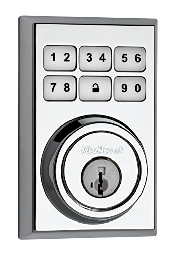 Kwikset 99090-022 SmartCode Electronic Deadbolt Featuring SmartKey, Polished Chrome