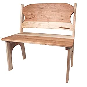 Camden Rose Child's Cherry & Maple Wood Bench