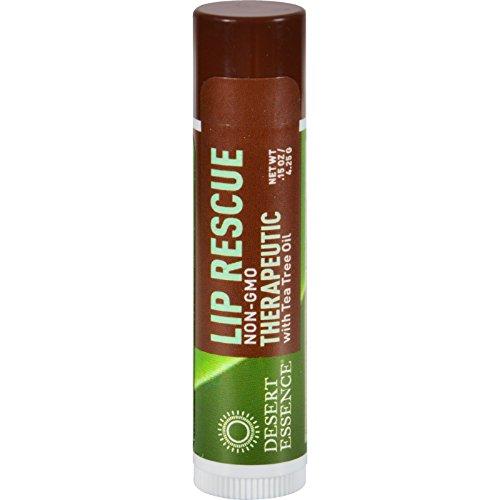 Desert Essence Lip Rescue Therapeutic With Tea Tree Oil -...