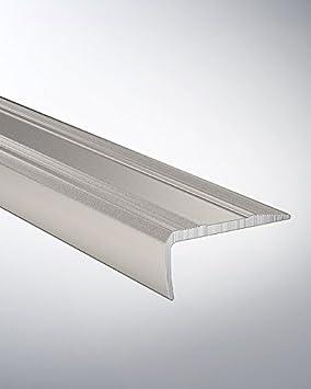 Home Trend reno-cantonera 38 x 15 mm perforado Alu Acero inoxidable, 250 cm: Amazon.es: Bricolaje y herramientas