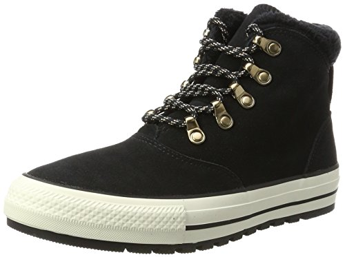 Converse Womens Chuck Taylor All Star Ember Boot Hi Black Egret Suede Trainers 8.5 US