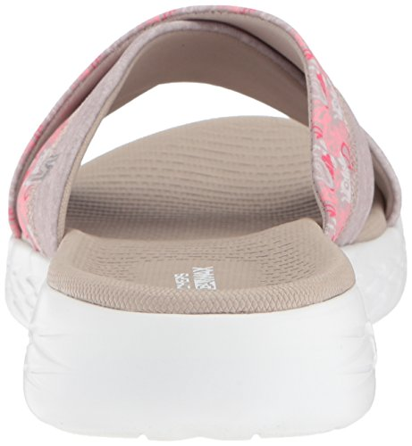 Skechers Performance Damen 600-Monarch Slide Sandale für unterwegs Taupe