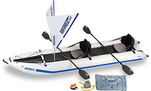 Sea Eagle 435PS Inflatable Paddleski / Catamaran / Kayak - QuickSail Package