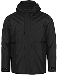 Mens Classic Jacket Padded Coat Top Long Sleeve Funnel Neck Hooded Zip