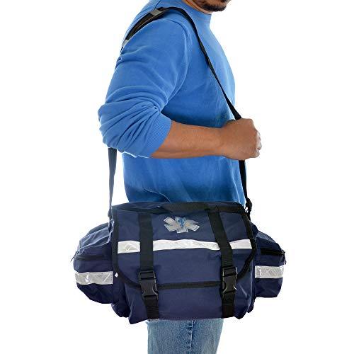 Dealmed First Responder Trauma Bag, Medium, Blue