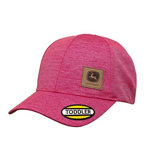 John Deere Toddler Kids Space Dye Patch Cap-Medium Pink-Os: Amazon ...