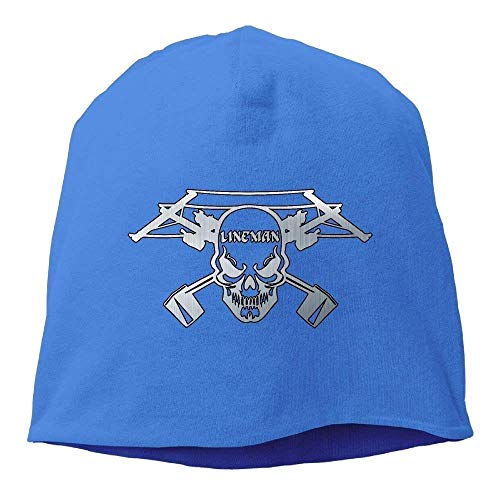 hipring6sk LineAdult Skull Electrician Power Adult Knit Knit Hat Soft Stretch Beanies Skull Cap Hedging Cap Black Perfect for Sports & Daily Wear