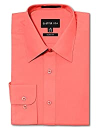 G-Style USA Men's Slim Fit Dress Shirt