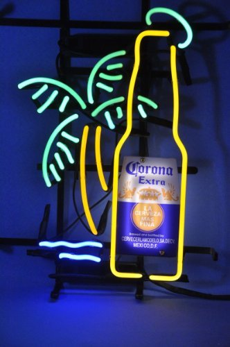 New Larger Corona Extra Bottle Palm Tree Neon Light Sign 20''x16'' H606(No More Long Waiting for WEEKS/MONTHS with Fast Shipping From CA With FREE USPS Priority Mail) ()