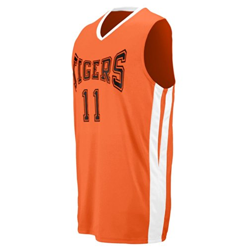 Adult Triple-Double Game Jersey - Orange and White - X-Large by Augusta Sportswear
