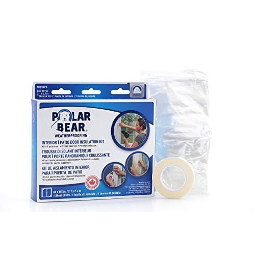 Polar Bear Weatherproofing Standard Patio Door Insulation Film Kit   84  Inch X 86 Inch