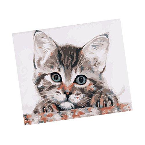 Baosity インテリア 数字 油絵 猫 デジタル油絵 装飾画の商品画像