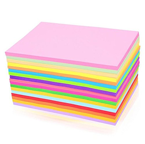 Pindia Premium Pack Of 100 A4 Size Assorted Color Sheets Copy Printing Papers Smooth Finish Home, School , Office Stationery