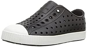 Native Kids Jefferson Water Proof Shoes, Jiffy Black/Shell White, 13 Medium US Little Kid