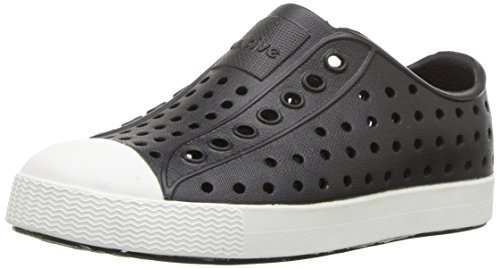 native Kids Jefferson Water Proof Shoes, Jiffy Black/Shell White, 12 Medium US Little Kid