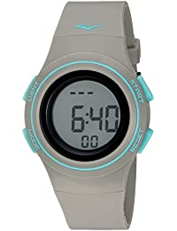 'Heart Rate Monitor' Automatic Plastic and Rubber Fitness Watch, Color:Grey (Model: EVWHR006GY)