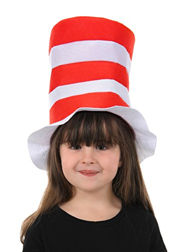 The Cat in The Hat Kids Felt Stovepipe Red]()