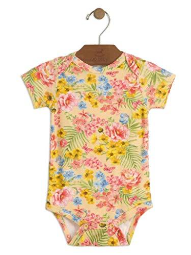 Body Up Baby Suedine Curta Floral Amarelo