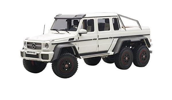 Amazon.com: Auto Art (AUTOart) AUTOart 1/18 Mercedes-Benz G63 AMG 6X6 (Matt White) finished product: Toys & Games