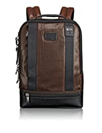 Tumi Alpha Bravo Dover Leather Backpack, Dark Brown, One Size